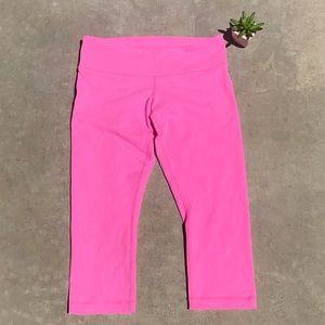 Lululemon Crop Pink Pants Leggings Size 8